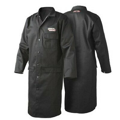 Lincoln Black Flame Retardent Lab Coat - Large (K3112-L)