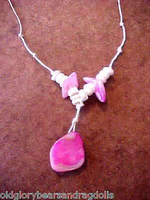 Pink MOP Seashell Pendant Necklace for  Bear &Doll