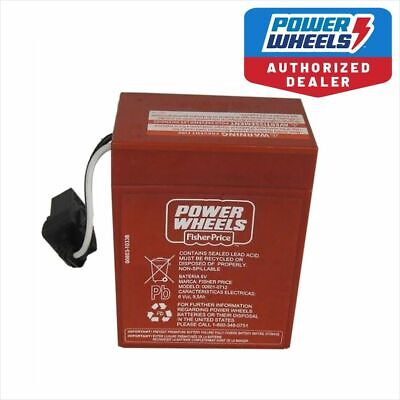 Power Wheels 00801-0712 6 volt RED BATTERY Genuine 1 year warranty BLOW OUT PRIC