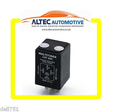 TIMER RELAY Adjustable  12 volt 10 Amp  ALT/ADJTIMERRELA12v
