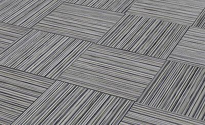"""CHILEWICH SMALL STRIPE LINEN 18"""" x 18"""" Woven Vinyl Tile - No Adhesive Residue"""