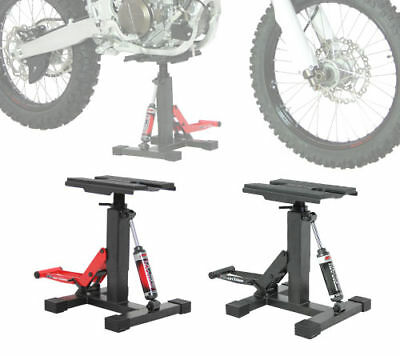 DRC Twin Arm Lift Stand MX Motocross Dirt Bike Adjustable Height With Shock