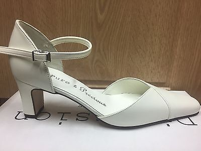 Ivory Leather Bridal Wedding Shoes All Sizes 3-8 By Pure & Precious CARLO