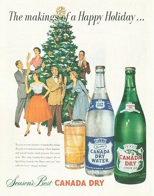1952 Canada Dry Ginger Ale & Ale Seasons Best PRINT AD