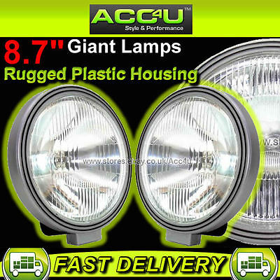 "12v 8.7"" inch 222mm Car 4x4 Van Sports Giant Round Driving Halogen Spot Lamps"