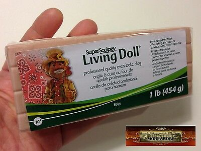 M00382 MOREZMORE 1 lb Living Doll BEIGE Polymer Clay Super Sculpey