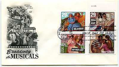 2767-70 Broadway Musicals on one Artcraft with tab FDC