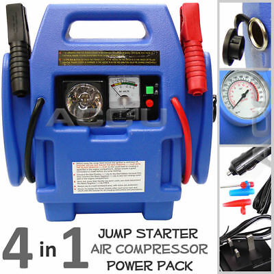 12v 900a Portable Car Battery Jump Starter Air Compressor Power Pack Station Pp9