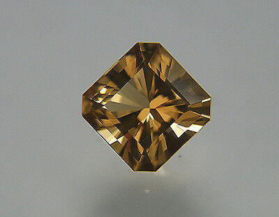 Custom Cut. Citrine. Natural Champagne Color.10mm. 4.5 cts. Internally Flawless.