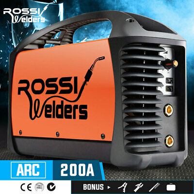 NEW ROSSI Welder Inverter ARC 200Amp Welding Machine DC iGBT Stick Portable