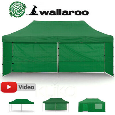 NEW 3x6 WALLAROO POP UP OUTDOOR GAZEBO FOLDING TENT PARTY MARQUEE SHADE CANOPY