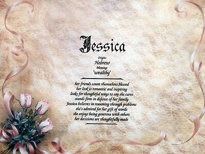 """""""Lace"""" Name Meaning Print Personalized (Decorative, Design)"""