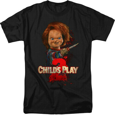 Child's Play 2 Here's Chucky Licensed Adult T Shirt