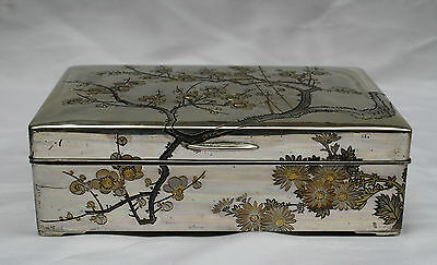 MAGNIFICENT 1900's CHINESE EXPORT STERLING  SILVER  HAND MADE  MIX METAL  BOX