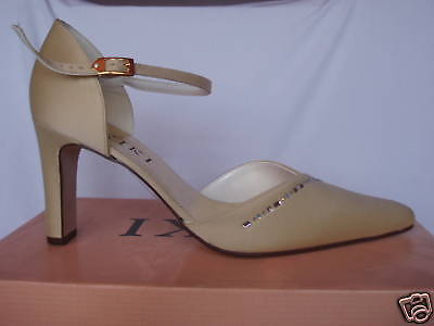Gold bridal bridesmaid wedding Shoes All Sizes 3-8 2 Heel Heights Style Jewel