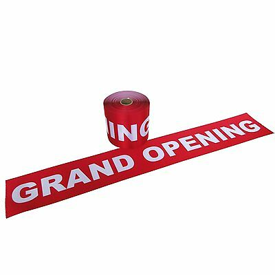 """6"""" Wide Red GRAND OPENING Ribbon for Ceremonial Ribbon Cutting Ceremony 5 Yds"""