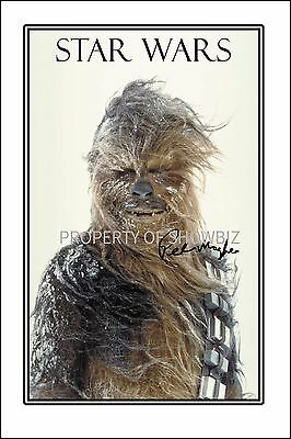 Star Wars - Chewbacca - Large Autograph Signed Photo Poster Print -