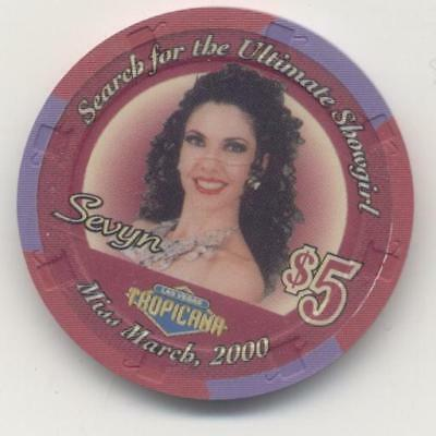 Tropicana * Miss March  2000 Show Girl  $5  Casino Chip