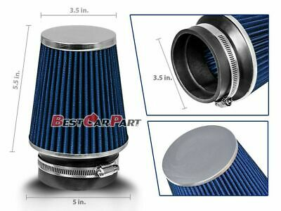 "3.5 Inches 3.5"" 89 mm Cold Air Intake Narrow Cone Filter Quality BLUE BMW"
