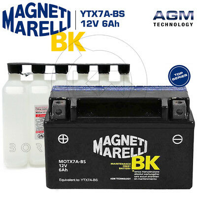 BATTERIA MAGNETI MARELLI YTX7A-BS 12V 6Ah KYMCO People 125 S 2009 2010 2011