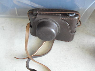 Vintage Leather Camera Case with Strap