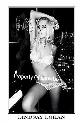 Lindsay Lohan Huge Signed Autograph Poster Photo Print - Absolutely Stunning