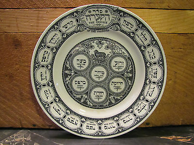 1920's Ridgways Passover Seder Plate Bardiger Tepper London England- Judaica