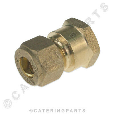 """8mm COPPER COMPRESSION FITTING to 1/4"""" BSP FEMALE THREAD ADAPTOR PIPE FITTING LP"""