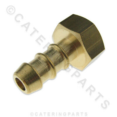 "LPG FULHAM NOZZLE 1/4"" FEMALE BSP THREAD X 10mm OD NIPPLE FOR 8mm BORE GAS PIPE"