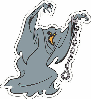 "Scooby-Doo Villian Ghost scrapbook bumper sticker wall decor vinyl decal 5""x4.6"""