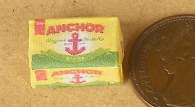 1:12 Scale Empty Anchor Butter Packet Dolls House Miniature Kitchen Accessory