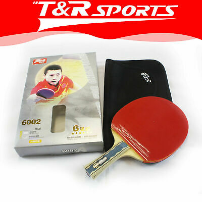 DHS 6002 6 Star Table Tennis Bat Racket Long Handle Ping Pong Case Free Post