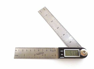 "7"" Electronic Digital Protractor Goniometer Angle Finder Miter Gauge iGaging"