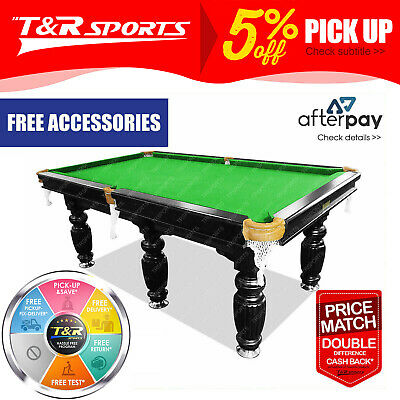 9FT Luxury Green Slate Pool Snooker Billiard Table With Free Full Accessories