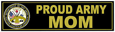 UNITED STATES Army Proud MOM USA Military Decal Window Bumper Sticker