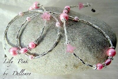 ✫Lily Pink✫ Beaded Eyeglass Glasses Spectacles Chain Holder Cord