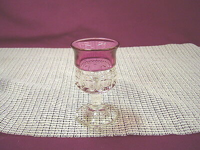 Vintage Tiffin Crystal Kings Crown Cranberry Small Wine Stem