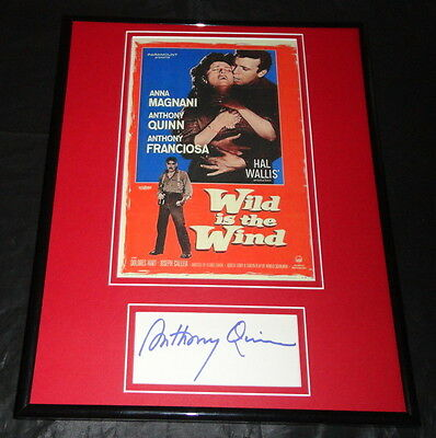 Anthony Quinn Wild is the Wind Signed Framed 11x14 Photo Display PA