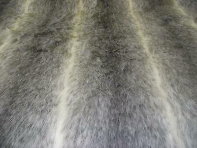 LUXURY Animal Faux Fur Fabric Material GREY OMBRE