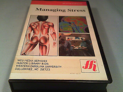 [i19] VHS TAPE- Health Sciences MANAGING STRESS Films for the Humanities