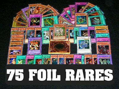 75 Yugioh Foil Rare Holo Cards Ultimate Collection! Foils Only!