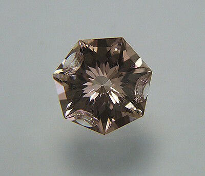 Ametrine. Custom Cut & Carved. 6.40 cts. 13.5mm. Heptagon Shape. Large....