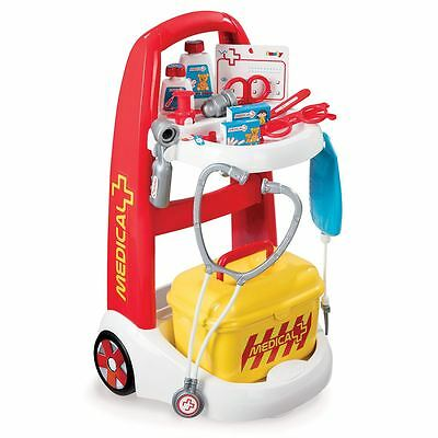 Fast Delivery Smoby Toy Doctor Medical Nurse Kids Hospital Trolley