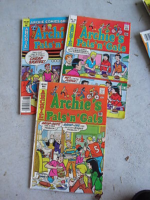 Lot of 3 1970s Archie Comic Books Archie's Pals n Gals LOOK