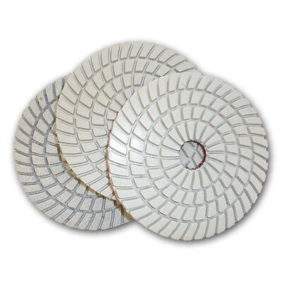 "4"" JHX Plus 3-Step Wet Diamond Polishing Pads - Set of 3"
