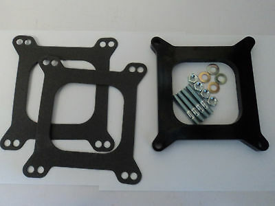 """1/2"""" Open Phenolic Carburetor Spacer Fits Holley Chevy 4bbl. New! SBC BBC Carb"""