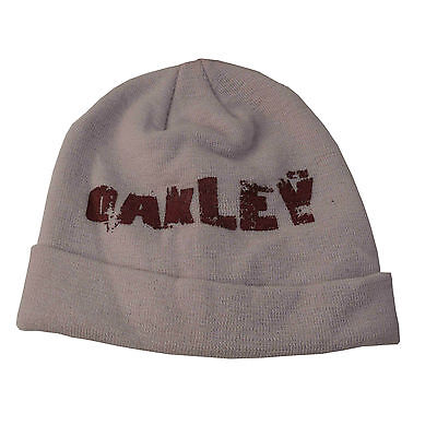 Oakley 100% Wool Deco Beanie Cement  Large Fit  Rrp $59.95 New