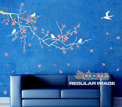 Wall Decor Decal Sticker Removable Vinyl Nursery Tree Plum Blossom Flower A 65""