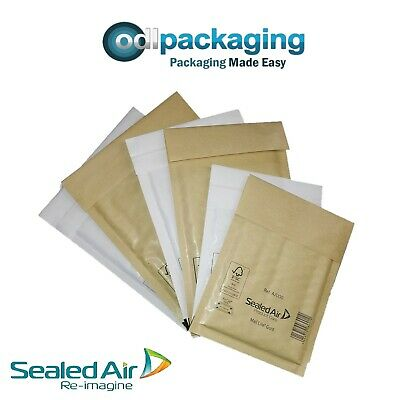 Mail Lite Padded Post Bags / Envelopes - All Sizes White & Gold - Genuine Brand