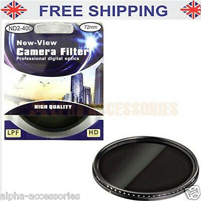 New Slim Fader ND Filter Neutral Density ND2 to ND400 72mm - UK
